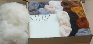 High Quality Needle Felting Starter Kit In Craft Gift Box, Merino Wool Free Post