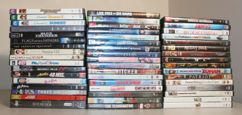 Lot of 50 DVD Movies, Assorted Titles~Saw, X-Men, Grinch, Terminator