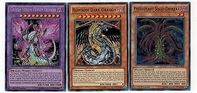Greedy Venom Fusion Dragon_Predaplant Squid Drosera_Rainbow Dark 1st Mint YUGIOH