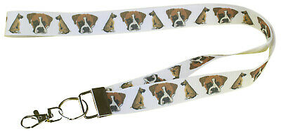 Boxer Breed of Dog Lanyard Key Card Holder Perfect Gift  Pure Breed Boxer