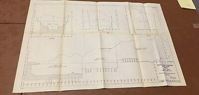 1910 Panama Canal Diagram Showing Gatun Locks Excavation Progress