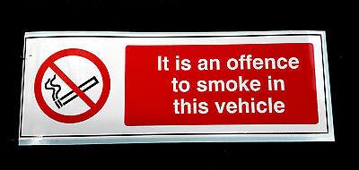 No Smoking self adhesive truck sticker
