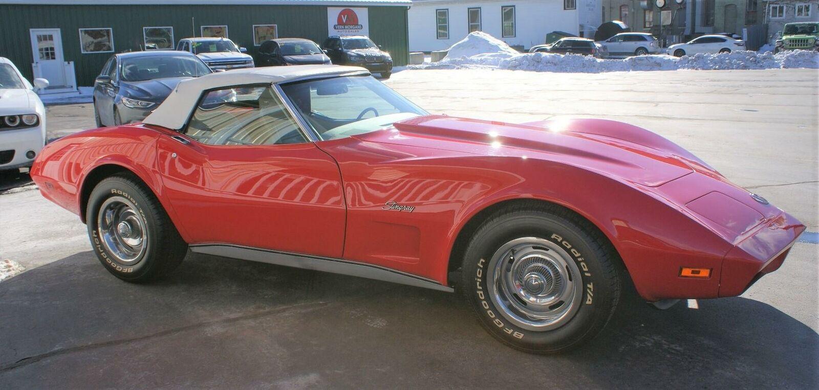 1974 Red Chevrolet Corvette  L82   C3 Corvette Photo 8