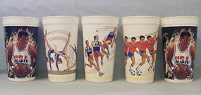 5 McDonald's Olympic Plastic Cups 1988 & 1992