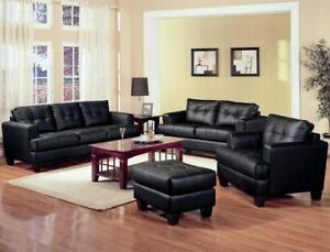 FREE DELIVERY in Vancouver! Leather Sofa and Loveseat Set! Black, Cream, and Espresso In Stock! NEW!