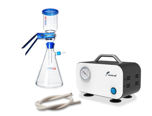 Lab Vacuum Filtration Pump Lab Oilless Diaphragm Vacuum Pump w/ Rubber Tube 10L