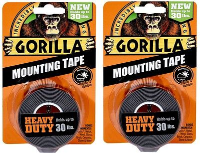 Gorilla Heavy Duty Mounting Tape Holds Up To 30lb - 2 Pack