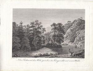 Königsmühle Neumühle Plauenscher Grund Dresden Orig Radierung Darnstedt 1799