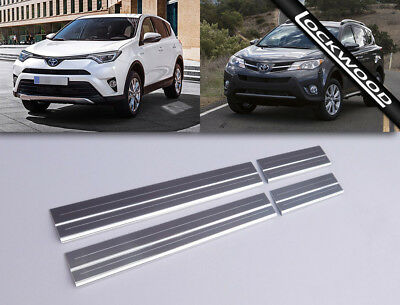 Toyota Rav 4 (From 2013 Inc 2016 Facelift) Stainless Sill Protectors Kick Plates
