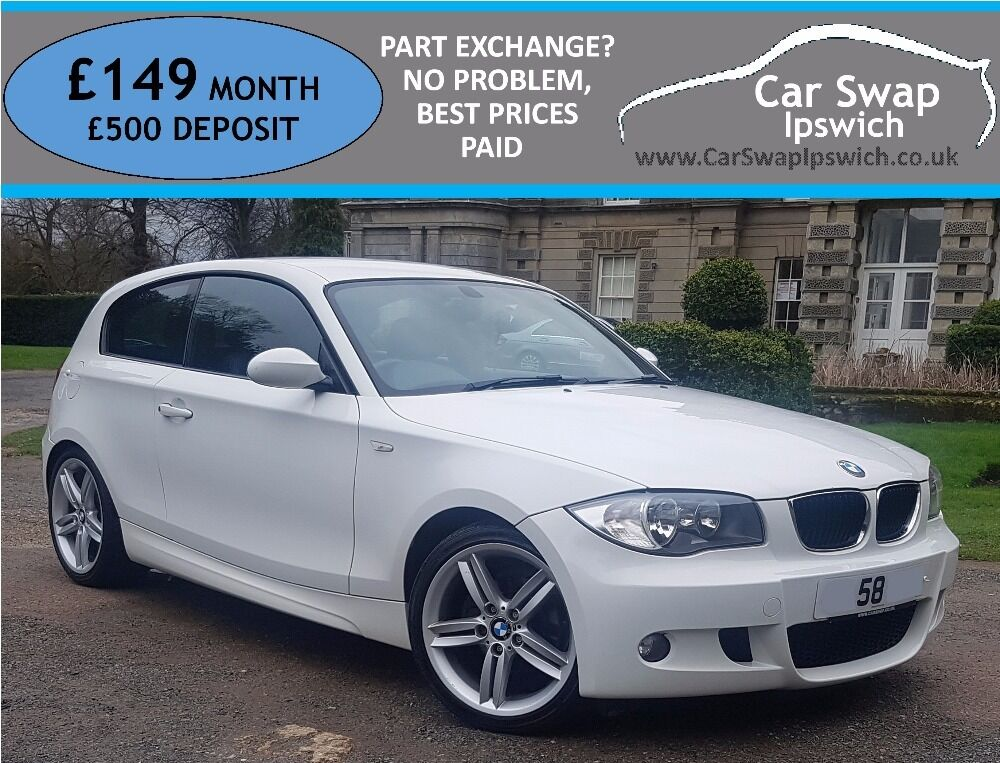 bmw 1 series 118d m sport white 2008 in ipswich suffolk gumtree. Black Bedroom Furniture Sets. Home Design Ideas