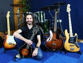 Music Tuition (mixing & programming, drums, bass guitar, tenor banjo, theory & musicianship)
