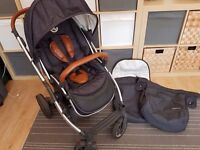 BabyStyle Oyster Pushchair - Mirror Chassis / Tan Handle