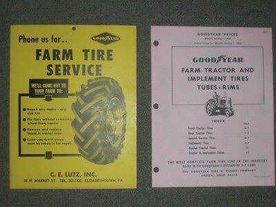 Goodyear Tire   Rubber Co  C  E  Lutz Elizabethtown Pa Poster   Price Sheet 1964