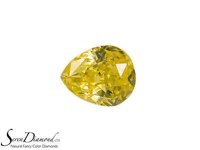 Diamond Natural Color Fancy Intense Yellow 0.22 ct carat Loose GIA certificate