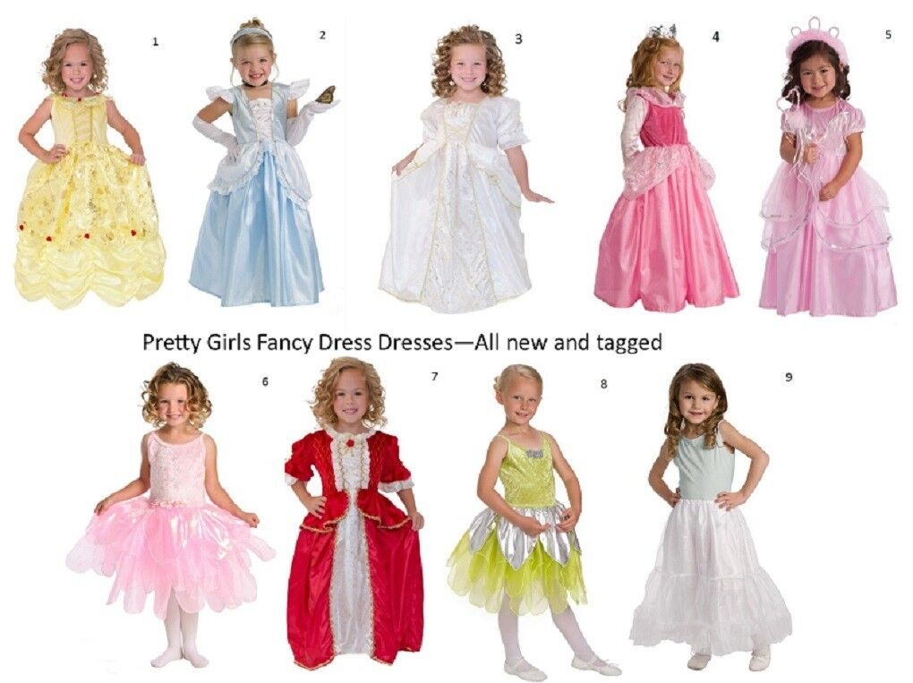 A Job Lot of Girls Fancy Dress Dresses - Various Sizes & Designs ...