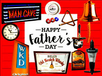 FATHERS DAY MAN CAVE GIFTS: ALADDIN'S CAVE OF BEER PUMPS & PUB SIGNS, MIRRORS FOR FATHER'S DAY