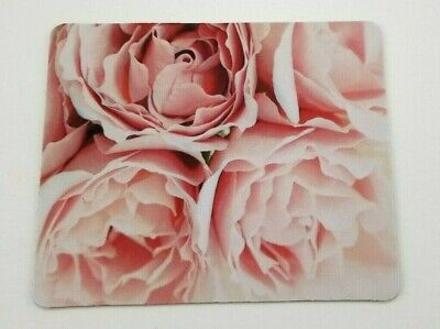 Pink Roses Cushioned Mouse Pad Mat For Laptop Notebook PC Computer ~ Gift Notebook Mouse Pad Mat