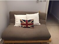 """FUTON COMPANY """"Orlando"""" Double Futon Sofa Bed & Extra Cover, Hardwood Base, Sofabed, + I CAN DELIVER"""