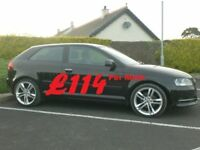 2011 Audi A3 1.6Tdi 3 Door In Black, 18inch Alloys, Finance Available