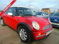 MINI HATCH COOPER 1.6 COOPER 3d 114 BHP **3 MONTHS WARRANTY INCLUDED** (red) 2003