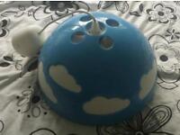 Ikea Skojig Blue Cloud Kids Lampshade