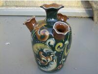 Torquay ware – Exeter Udder vase or Tulip vase. 7.5 ins. tall