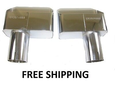 70 71 72 CORVETTE EXHAUST TIPS WITH PART NUMBER PR NEW
