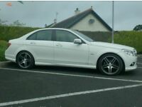 2009 Mercedes C220Cdi Sport, Low Miles in White, Finance available