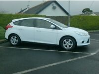 2012 Ford Focus, 1.6tdci, New Model, Uk company car, frozen White!!