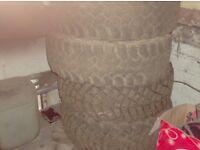265 70 16 off road tyres x4