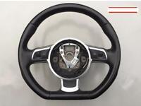 AUDI TT MK2 A3 S3 A4 A5 FLAT BOTTOM STEERING WHEEL