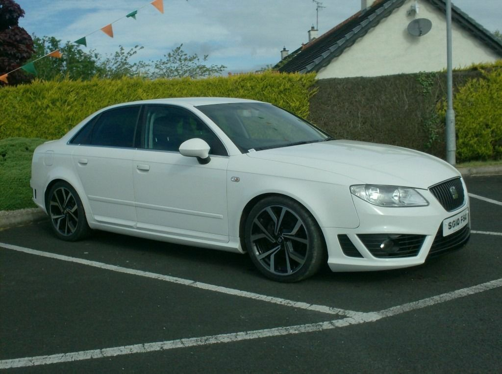 2010 seat exeo 2 0tdi in white with bodykit brand new 18inch alloys in dungiven county. Black Bedroom Furniture Sets. Home Design Ideas