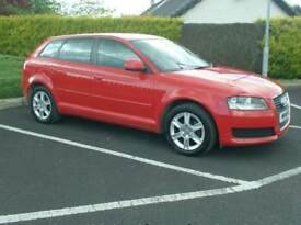 2010 Audi A3 1.6Tdi Sportback, bright Red, £20 to tax