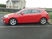 2012 Vauxhall Astra 2.0Cdti Sri, one owner, 160bhp, in Bright Red.