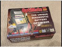 OPTIMATE 3 , Battery Optimiser Desulphating-Charger. Crocodile clips and Permanent bike lead