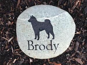 Custom Engraved River Rock Pet Memorial