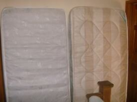 two single mattreses good condition £15 each