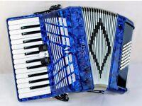 Sila 48 Bass Accordion - Blue Pearl