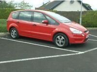 2008 Ford S Max, Bright red, Good service history, 7 Seater