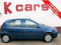 LOW MILES CHEAP SMALL 5 DOOR FIAT PUNTO 1.2 ACTIVE 12 MONTH MOT