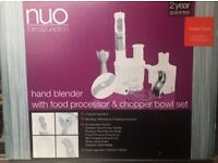 NUO Form & Function Hand Blender with Food Processor & Chopper Bowl Set - USED