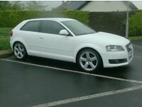 2008 Audi A3 1.9tdi Ecomotive, £30 to Tax, facelift model in White