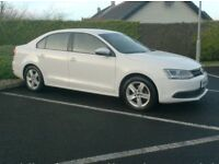 2012 Vw Jetta 1.6Tdi Bluemotion Tech Se, In White, Full History, One Owner Uk Company Car