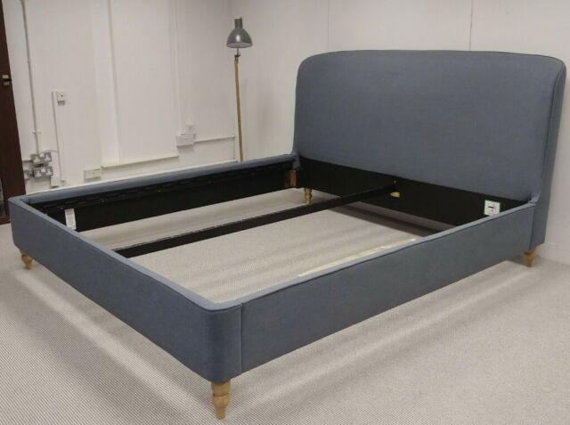 0f1ac45ef9d4 Croft Collection Skye Upholstered Bed Frame Super King Size, Mole Navy