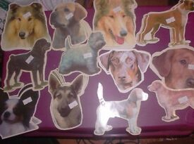 dog head stickers 89 assorted