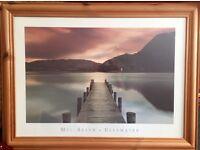 Large framed Mel Allen picture