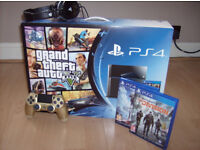 PS4 500GB. Best condition you'll find. All packaged as new with accessories.