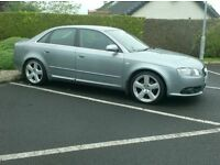 2007 Audi A4, S line 140bhp 6 Speed, in Space Grey.