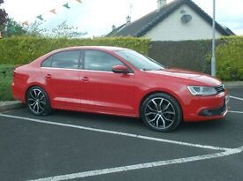 2014 Vw Jetta Tdi Sport Bright Red, Half Leather,