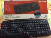 Microsoft wired keyboard 500 (boxed) also Trust wired keyboard